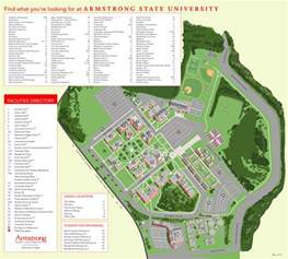 Georgia State Campus Map by Campus Map Armstrong A Georgia University