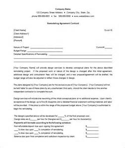 home improvement contract template 7 remodeling contract templates free word pdf format