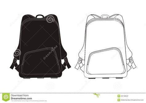 backpack template backpack template stock photography image 26748522