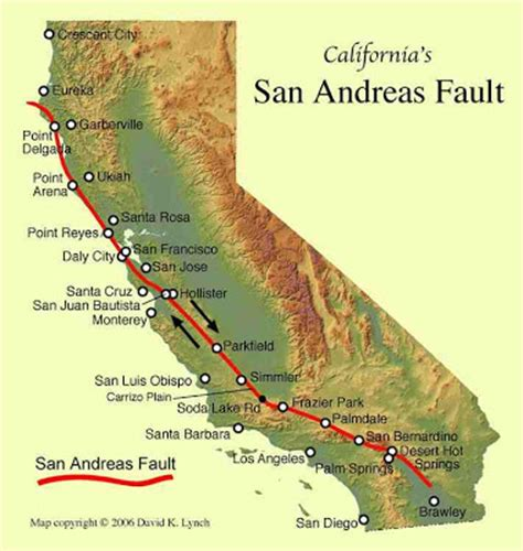 san andreas fault line map sciency thoughts los angeles shaken by earthquake