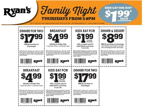 Ryans Coupons Second Breakfast Buffet Free Weekends At Mountain Buffet Coupons