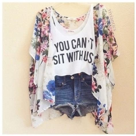 13 Home Design Bloggers by Jacket Kimono Floral Pretty Shirt Shorts Meangirls