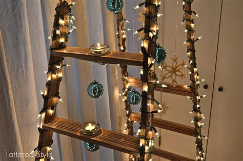 how to make a ladder christmas tree tattered style ladder tree