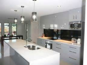 Galley Style Kitchen With Island Galley Kitchens Brisbane Custom Cabinets Renovation Specialists