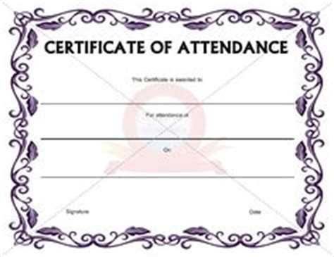 templates for certificates of attendance of a course 1000 images about certification of attendance templates