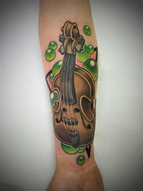violin tattoo gallery violin by vincent zattera tattoonow