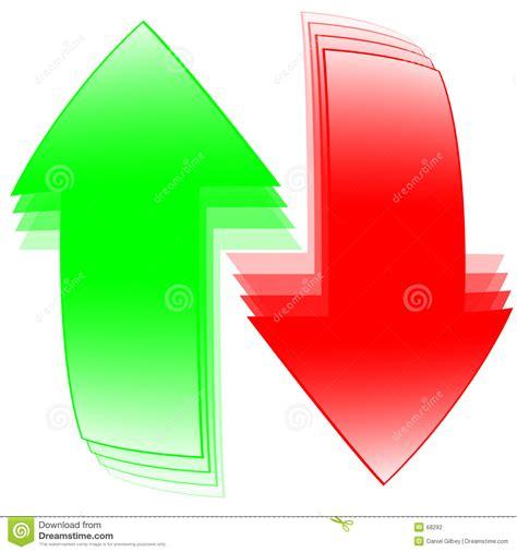 imagenes verdes y rojas flechas rojas y verdes stock de ilustraci 243 n imagen de