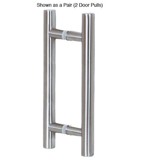 Glass Door Pulls 16 Inch Contemporary Stainless Steel Glass Door Pulls Pair Doorware