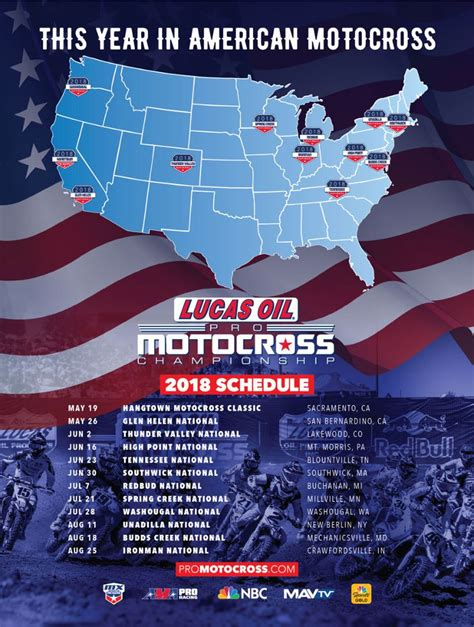 ama national motocross schedule 2018 lucas pro motocross schedule 12 calendar