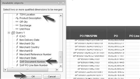 tutorialspoint list sap webi merge dimension
