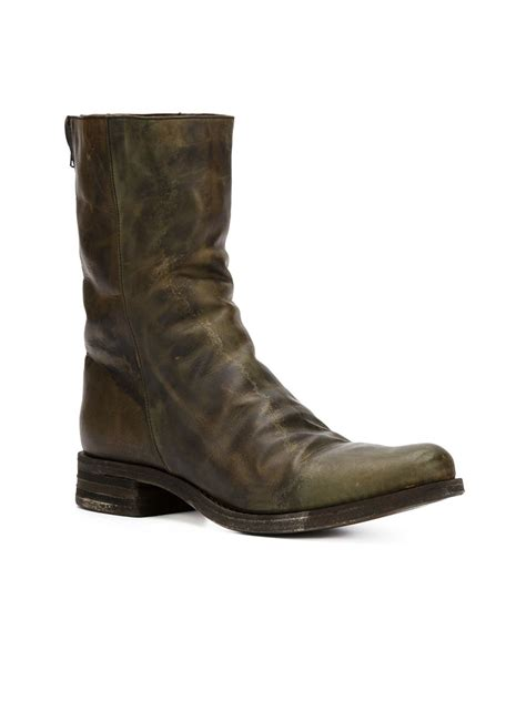 mid calf boots a diciannoveventitre mid calf length boots in brown lyst