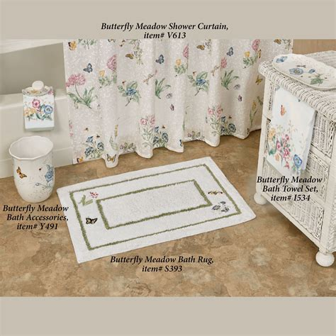 Butterfly Bathroom Rug Lenox Butterfly Meadow Embroidered Bath Rug