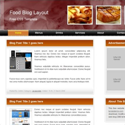 Food Blog Free Website Templates In Css Html Js Format For Free Download 284 19kb Free Grocery Website Templates