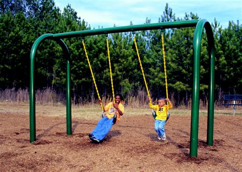 steel swing sets swing set green play parks current events