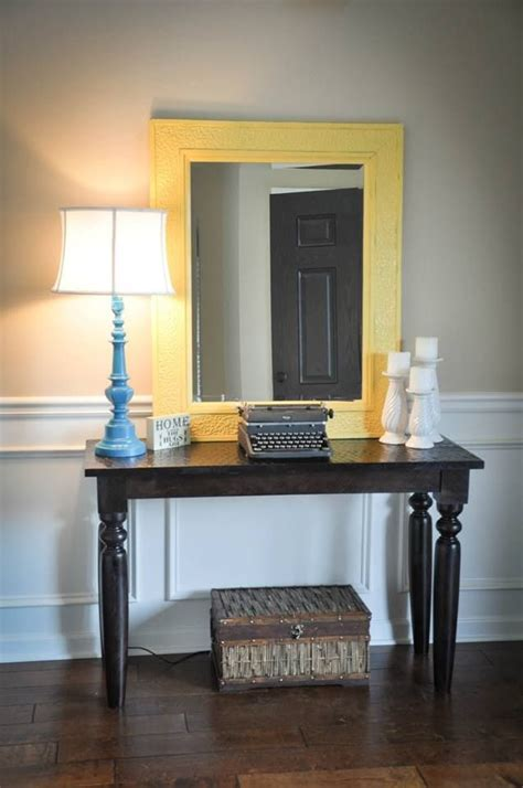 entry  table diy lamp diy candle sticks diy yellow