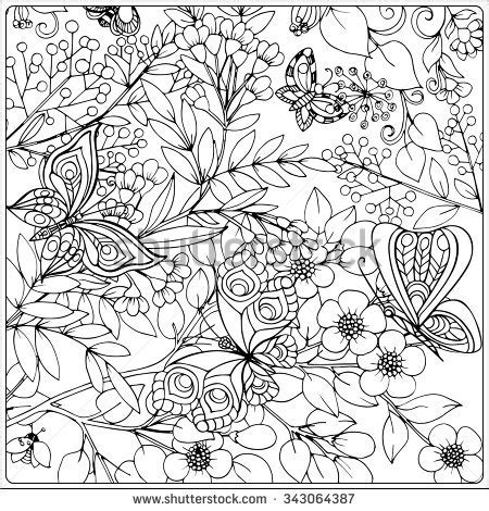 Display Book Sheet 20 Flower M0100 butterfly flower stock vectors images vector