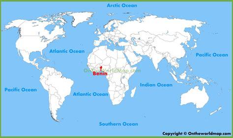 benin on the map benin location on the world map