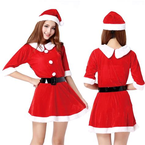 christmas gift sexy christmas outfits ladies dress santa