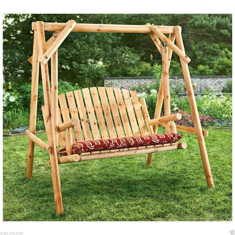 wood bench swing fun and relaxing outdoor bench swing the homy design