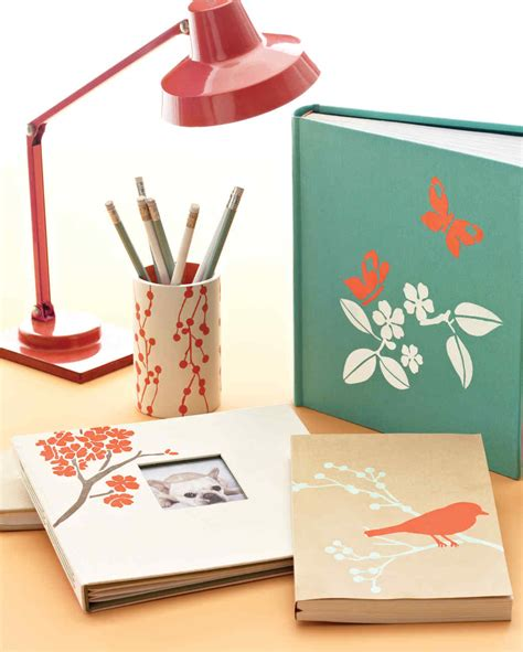 Stenciled Home Office Supplies Martha Stewart Olive Crown Martha Stewart Desk Accessories