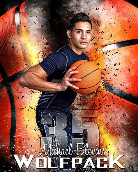 sports poster photo template basketball inferno sports
