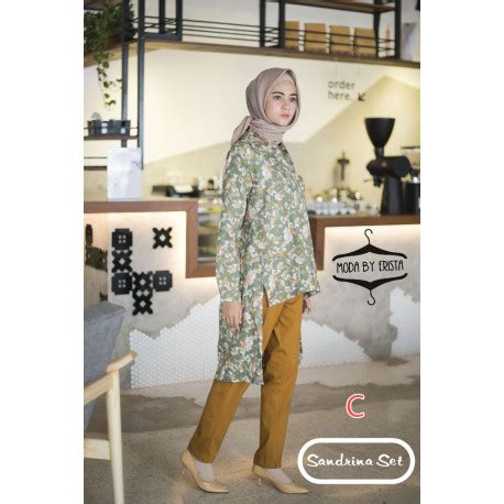 Tunik Linen Import pusat baju muslim tunik dan by moda collection