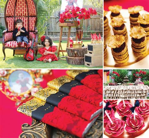 rose themed party beautiful red rose gold flamenco party theme