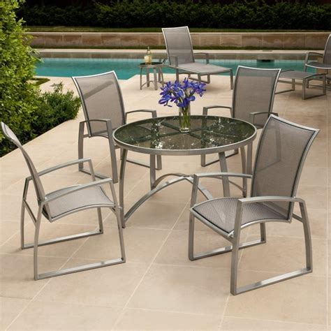 Woodard Patio Furniture Woodard Wyatt Flex Patio Dining Set Wd1289