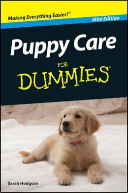 puppy for dummies puppy care for dummies mini edition by hodgson 9781118042960 nook book