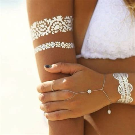 white temporary tattoo 20 tattoos to make you shine this summer temporary