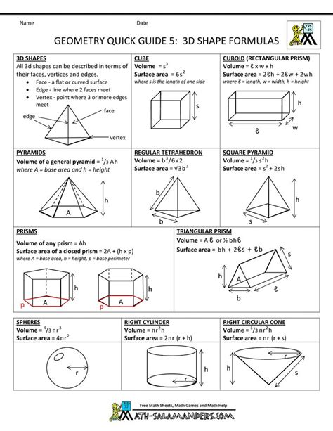 algebra and geometry formulas sheet 25 best ideas about geometry formulas on math