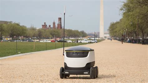 food delivery robots rolling  dc
