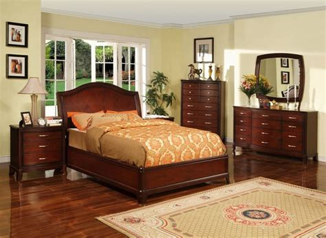 bedroom decorating ideas with cherry furniture room