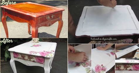 Decoupage Furniture Diy - how to decoupage beautifully save money and upcycle any
