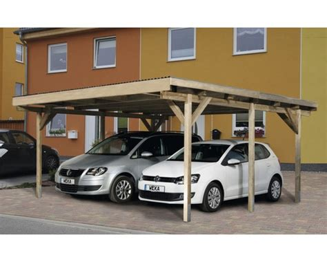 carport hornbach weka carport type a1 duo ge 239 mpregneerd 471x389 cm kopen