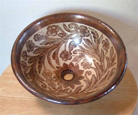 mexican hand painted sinks hand painted copper sinks mexican hand painted sinks