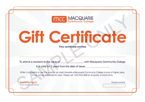 research template macquarie gift certificate template excel choice image certificate