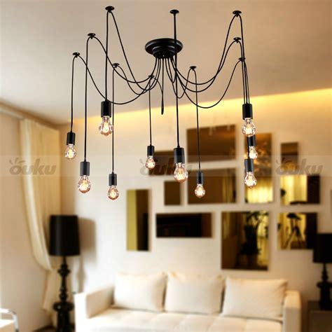 edison light bulb chandelier edison style 10 lights bulb chandelier ceiling light