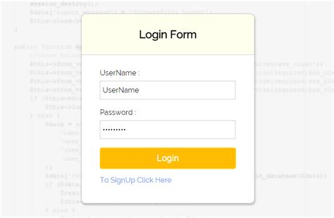 simple login form template codeigniter simple login form with sessions formget