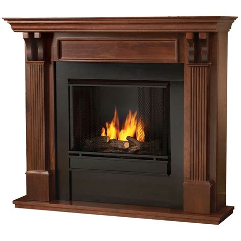 Real Flame Ashley Indoor Ventless Gel Fireplace In Mahogany Gel Burning Fireplaces Indoor