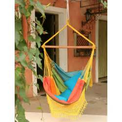 cotton fabric hammock chair with fringe