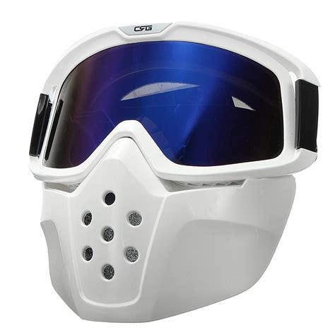 motocross helmet with face shield detachable goggles face mask helmet modular shield