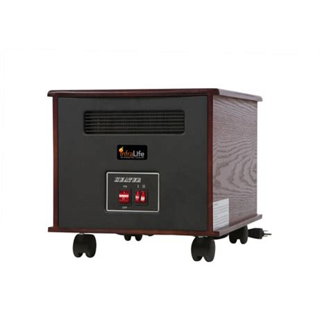 walmart room heaters infralife 100 ptc infrared radiant heat space heater brown 99710 walmart