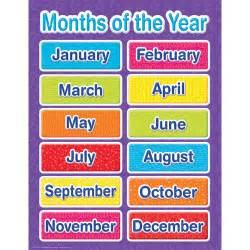 colors of the month color my world months of the year chart eureka school