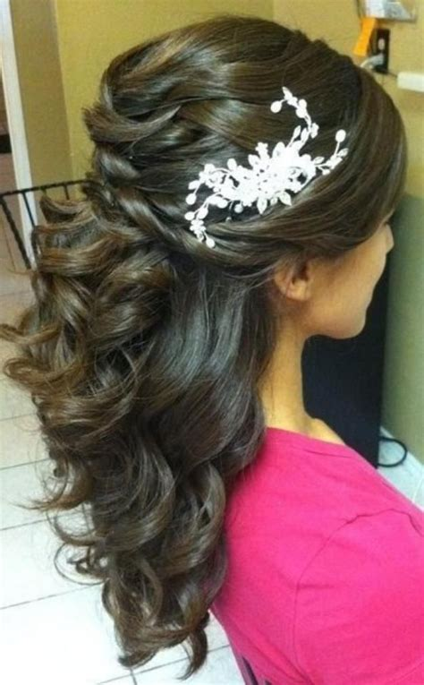 mother of the bride hairstyles partial updo twisted elegance half up and half down wedding hairstyle