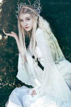 female elf white hair cosplay fantasy magical fairytale surreal enchanting