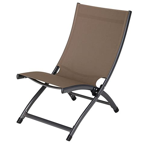 folding armchair folding armchair in taupe aluminium and plastic coated