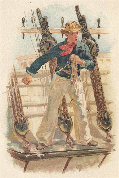 swinging the lead royal navy sailor swinging the lead antique print