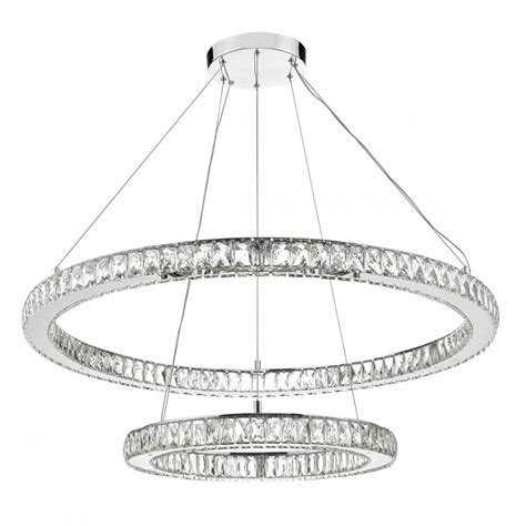 large contemporary led ceiling light 2 hoops lighting