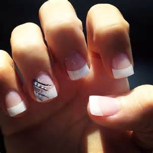 french tip cute nails pinterest